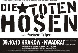 Die Toten Hosen w Krakowie 2010